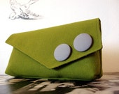Olive Green Large Clutch