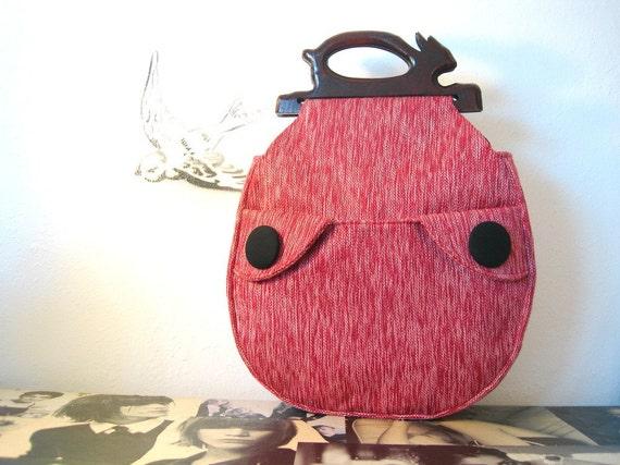 Rasberry and Chocolate Handbag   READY TO SHIP