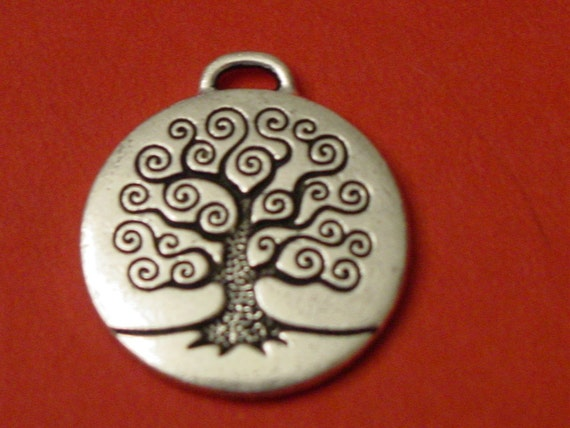 Silver plated tree of life pendent