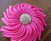 Shocking Pink Ribbon Brooch