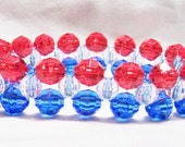 Patriotic Red, White and Blue Bracelet by ValerieEssentials