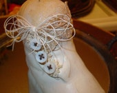 Sweet Antique Altered Baby Shoe Pincushion