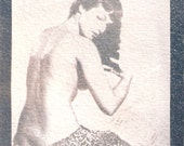 Betty Page - Cyanotype Print