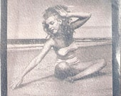 A Young Marilyn-Cyanotype Print