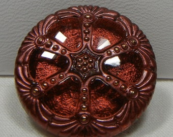 Wheel Czech Glass Button