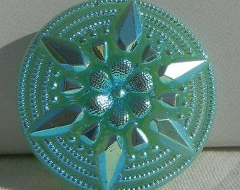 6 Point Star Czech Glass Button