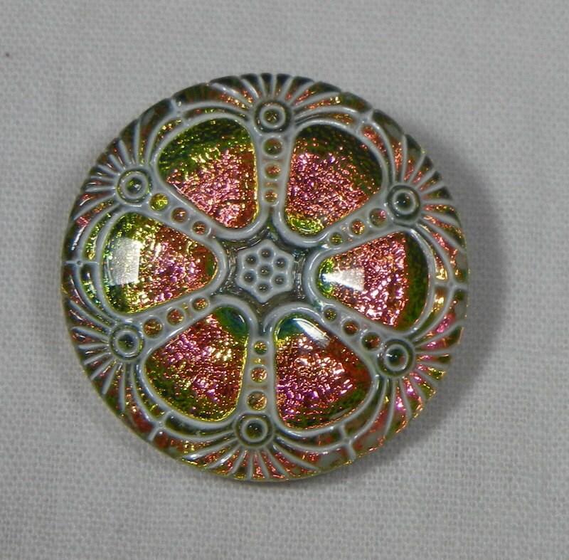 Three Petal Flower Czech Glass Bead Jet Black 12 Czech: Wheel Czech Glass Button From MostlyButtons On Etsy Studio
