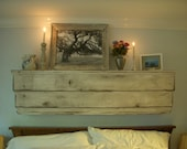 Floating Wall Mantel - Wood Shelf - Ledge - Shabby Furniture - French Country - 50 Inch - You Choose Antique Color