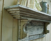 Distressed Shelf - French Country, Shabby, Mantle Shelf Furniture
