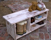 Wood Storage Bench - Furniture - Entryway - Hall - Shoe Storage - Your color choice - Solid Wood