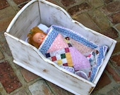 Doll Cradle - Girl - Child - Children - Nursery Decor - Gift Idea - Rocking - Abraham Lincoln Era - Doll and Quilt NOT included