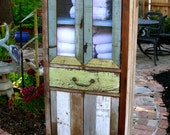 Distressed - Reclaimed Wood Furniture - Cabinet - Handcrafted - Shabby - French Country Chic Decor