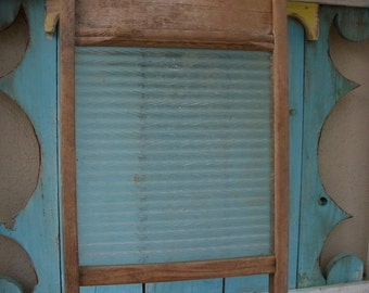 Vintage Glass Washboard - Shabby Cottage - Wash Day - Wash Board - Laundry Day - Home Decor - Antique - Rustic - Laundry Room - Hand Washing