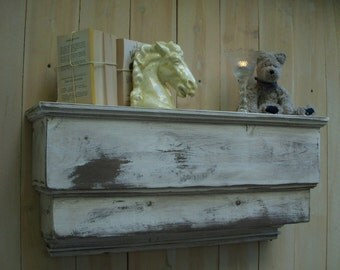Wood Wall Shelf Ledge - Handmade Wooden Shelving - Distressed Furniture - 31 Inch