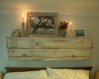 Floating Shelf - Wall Shelving - Solid Wood Ledge 40 Inch - Shabby Furniture - Cottage Chic - French Country