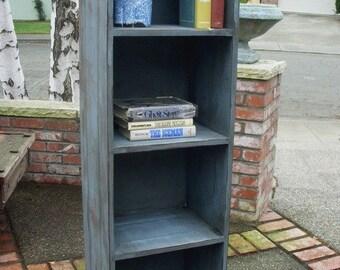 "Reclaimed Wood Shelf - Rustic Home Decor - Bookshelf - Shelving - Bookcase Shelf - Pine Wood - Cabinet - 56"" Tall x 12.5"" Deep x 18"" Wide"