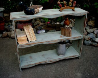Wood Shelf - Table with DEEP Shelves - Shabby - Cottage Chic Furniture