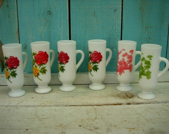 Vintage Avon Demitasse Wild Roses Coffee Cups or Bud Vases