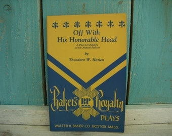 Vintage - Off With His Honorable Head 1966 Edition Play for Children