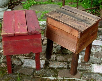 Wooden Table - Reclaimed Wood - Handmade Furniture - Color of Your Choice