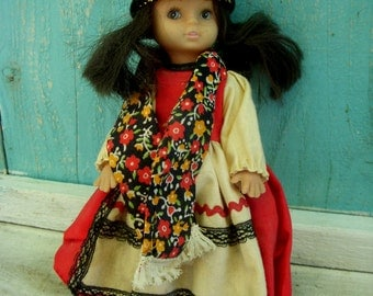 Vintage Swiss or Russian Doll - Old Doll - Collectible - Display - Home Decor - Girl