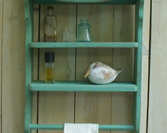 Wooden Shelf - Towel Holder Shabby - Cottage, French Country, Paris Apartment