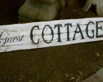 Handmade Wooden - Sign - Ecofriendly - Recycled - Wood - Guest - Shabby - Cottage Chic - Bedroom Decor - Bath Decor - Wall Hanging - Art