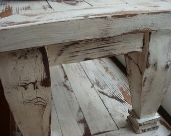 Living Room Furniture Handmade Wood Coffee Table Beach Cottage Chic Cottage