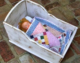 Doll Cradle - Girls Room - Children - Nursery Decor - Gift Idea - Rocking - Dolly Bed - Toy - Crib - Doll and Quilt NOT INCLUDED - Bedroom