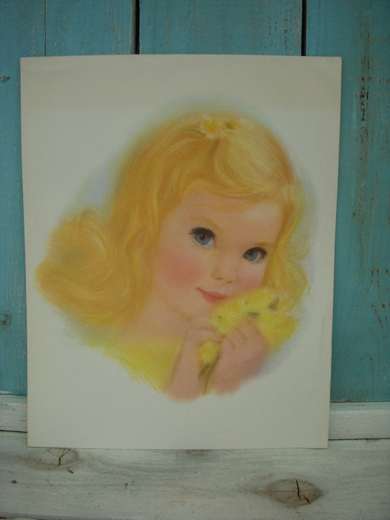 Vintage Print - Northern Tissue Girls Print - Bathroom Decor - Wall Hanging - Poster - Blonde Girl