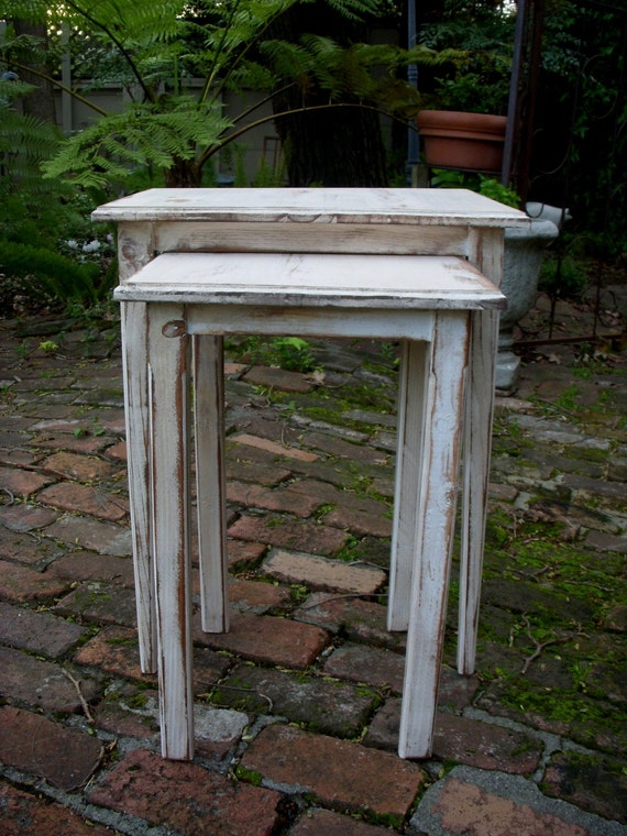 small table rustic home decor distressed furniture