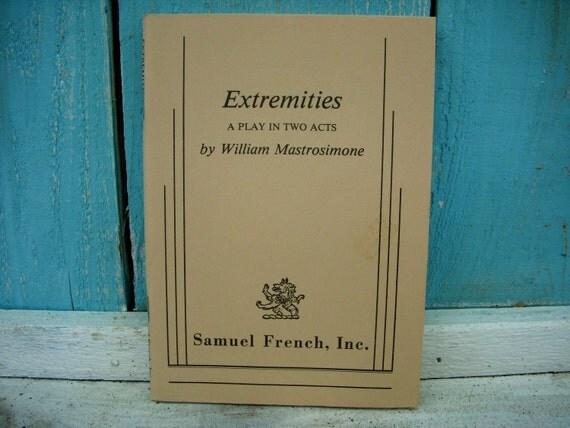 Vintage Book Extremities Performing Arts Book Play