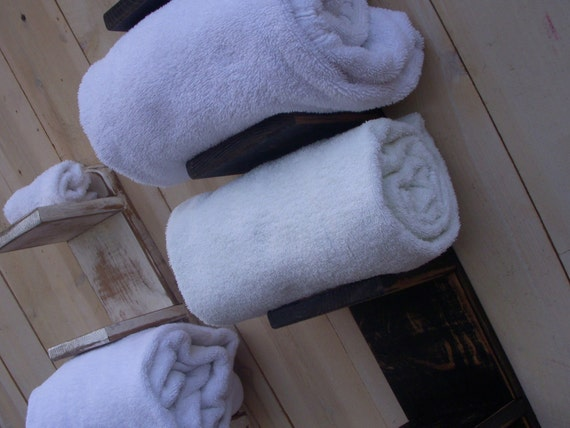 Bathroom Storage - Bath Decor - Towel Holder - Home Decor - Handmade Towel Rack - Bath Decor - Wood - Shabby