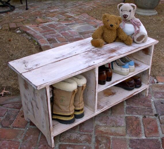 Wood Shelf, Storage - Shoe Bench - Entryway - Hall - Shoe Storage - 36.5 Long - Entry Storage - Organize