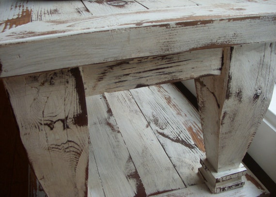 Living Room Furniture - Handmade - Wood Coffee Table - Beach Cottage - Chic Cottage - Country - Cottage White - 45 long x 17 wide x 16 tall
