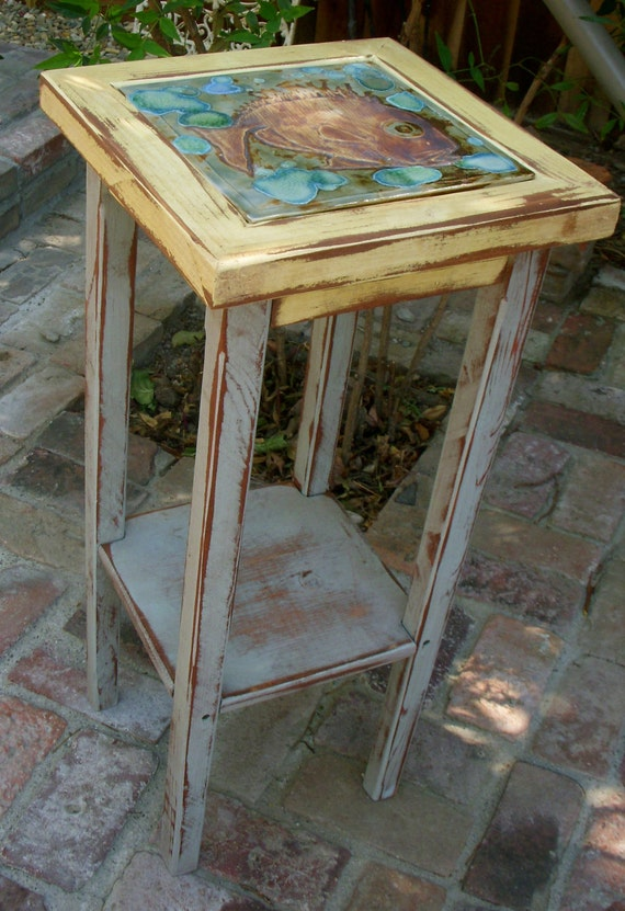 Side Table Shabby Cottage Chic Wooden Furniture