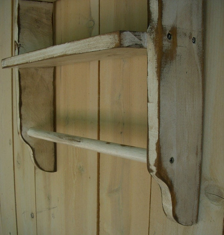 rustic home decor distressed wooden shelf by honeystreasures