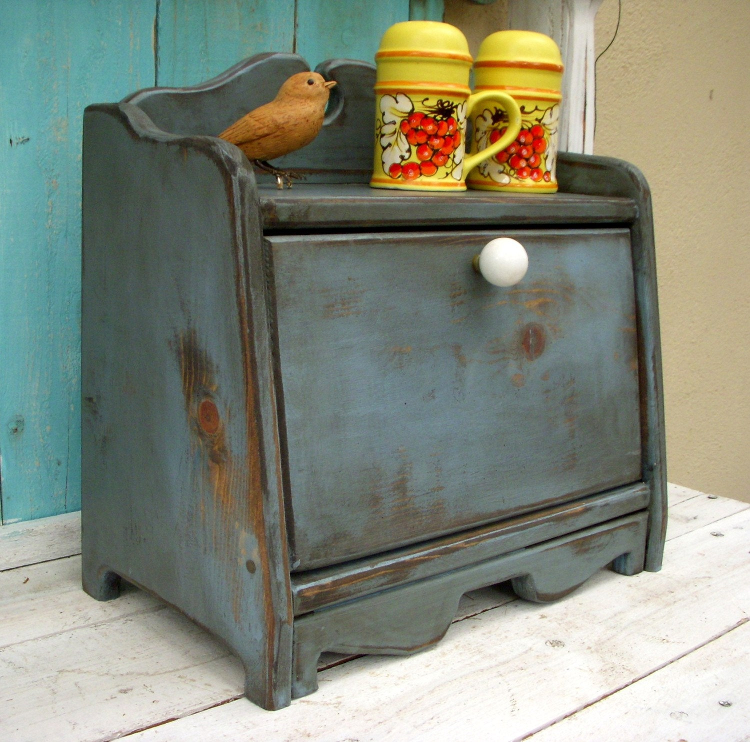 Bread Box Shabby Kitchen Cottage Chic Your Antique Color
