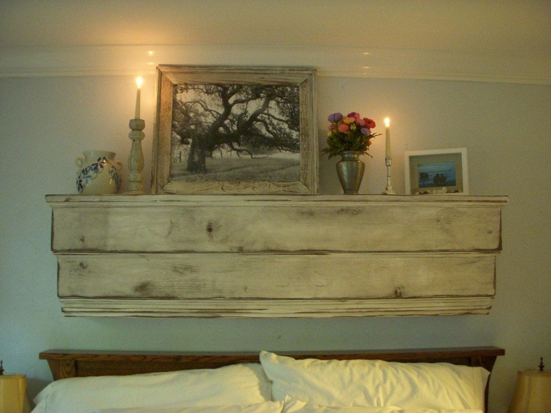 floating wall mantel wood shelf ledge shabby furniture. Black Bedroom Furniture Sets. Home Design Ideas