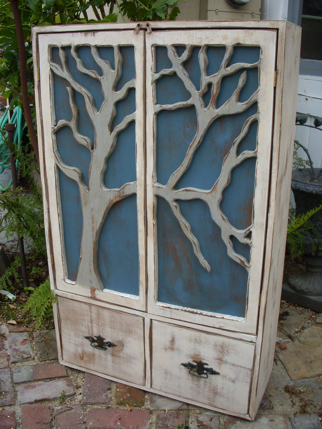 LOCAL ONLY Storage Organization Rustic Furniture Tree