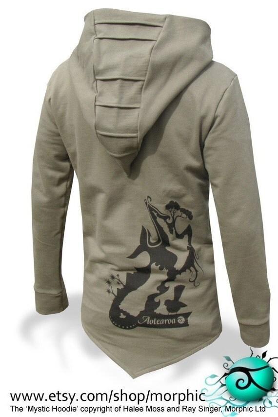 Mens 'Mystic' Hoodie - Khaki/Black Lining - Sizes S, M, L, XL, XXL - FREE SHIPPING