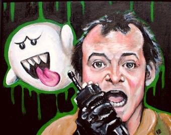 Boo Fine Art Print ghostbusters Nintendo Nerdy Artwork Bill Murray Portrait