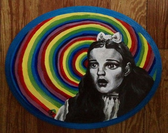 Dorothy Wizard of OZ Original Art Artwork Acrylic Portrait Painting of Judy Garland