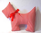 Scottie Dog Pillow Novelty Customized Design Your Own, polka dots, stripes, hounds tooth check, harlequin kitsch