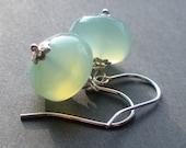 Cotton Candy - Mint Jade Green sterling Silver Earrings
