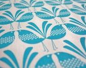 Belbird Design - Blue - Hand Screen Printed Fabric
