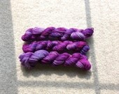 Hand-dyed wool fingering weight yarn