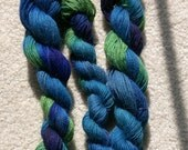 Hand-painted baby alpaca yarn