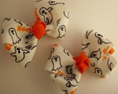 Halloween Boutique Ghost Hair Bows non-slip