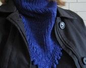 Indigo Dandy Cowl Knitting Pattern PDF